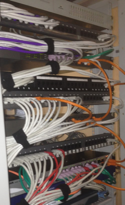 Patch panel after rewire